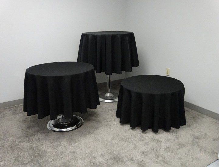 Pedestal tables 15″,30″,40″